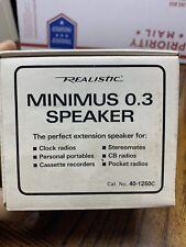 Vintage Realistic Minimus 0.3 Shelf Speaker 40 1250c