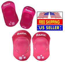 *Girls 5+ Razor Sweet Pea Multi-Sport Child Protective Pad Set, Pink