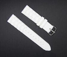 20mm White Silicone Rubber Watch Band