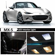 6x White Interior Map LED Lights Package Kit for 2009-2015 Mazda MX-5 Miata MX5