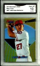 "2016 Bowman's Best Mike Trout # MT ""1996 Style ReFractor"" Gem Mint 10 L.A.Angels"