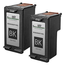 2pk Reman replacement for HP 74XL / CB336WN High Yield Black Ink Cartridge