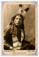 Kills Alone Oglala 1899 Vintage Photograph A++ Reprint Cabinet Card CDV