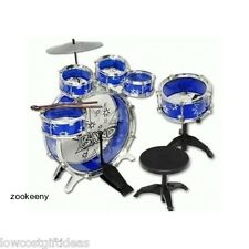 TODDLER TOY DRUM SET BLUE 11pc play kit music boy stick child game kids fun gift