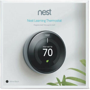 Nest T3018US 3rd Gen Programmable Thermostat - Mirror Black