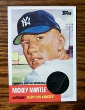 2007 Mickey Mantle Topps 1953 Reprint JERSEY Card #MMR-53! Mint!