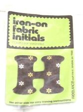 Washable Alphabet Letter H Motif Fabric Iron On Patch Badge