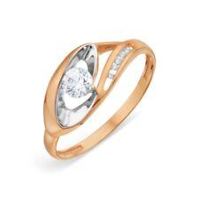 585/14ct Rose Gold Ring with Crystal Swarovski