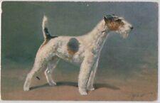 Antique Postcard: Artist Signed Rivst, Fox Terrier, Great Pose, Profile W08