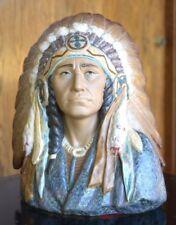 Big Vintage Lladro Daisa Proud American Indian Chief GRAN JEFE 2127 Bust Figure