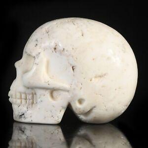 "1.97""Natural Tridacna Carved Skull Metaphysic Healing Power #33U68"