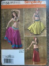 Simplicity Sewing Pattern 2158 Belly Dancing Outfits Costumes Sizes 6-12 New