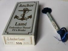 Anchor Stickgarn Lame, Farbe: 320 = Blau, 10 Stränge á 10 m, Mat: 65 VI 35 PE
