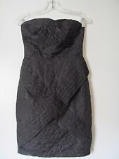 Jean Paul Gautier for Target Black Floral  Pleated Straples Mini Dress NWOT SZ 3