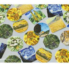 45X Van Gogh Oil Painting Sticker Box Set Scrapbooking Deco Gift Label Seal