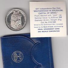 1977 Israel 29th Anniversary Brotherhood in Jerusalem Proof Coin 20g Silver +COA