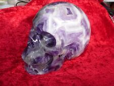 Crystal skull chevron amethyst with geode formations