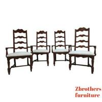 4 Pennsylvania House Cherry Ladderback Dining Room Arm Chairs Set
