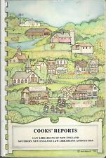 *NEW HAVEN CT 1983 COOKS REPORTS COOK BOOK *NEW ENGLAND LAW LIBRARIANS *MA ME NH