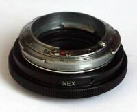 Contax RF Mount to Sony NEX, A7 E-Mount Adapter + FAST Antique Lens + Cap