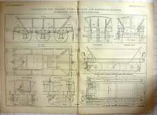 1888 25 Ton Iron Ore Wagon, Swedish And Norwegian Railway Detailed Diagrams