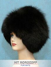 BLACK FOX Fur Hat Russian Winter Schapka Saga Pelzmütze Fellmütze Wintermütze