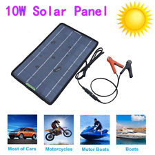 10W Solar Panel 12V Battery Charger System Maintainer Marine Boat Car Waterproof