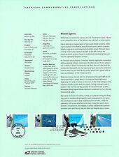 #0201 34c Winter Olympics #3552-3555a Souvenir Page