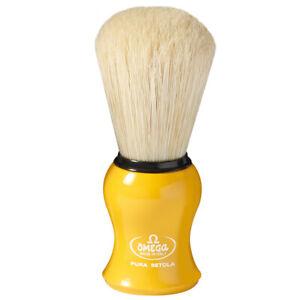 Yellow Shaving Brush Long Schweineborste Omega Italy Pure Bristle Natural