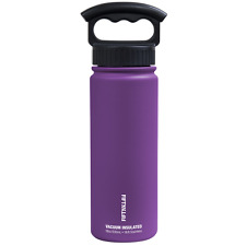 Fifty/Fifty 18oz PURPLE Insulated Stainless Steel Water Bottle 3 Finger Lid