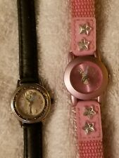 Disney Tinkerbell watches (lot of 2) 1 by SII  and 1 by The Store (parts as is)