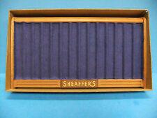 Sheaffer's Fountain Pen M20-20 Groove Tray W/BOX Blue Felt Wooden Display Shelf