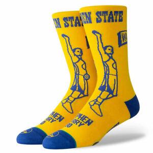 Stance NBA Golden State Warriors Stephen Curry Stencil Socks Size M (6-8.5)