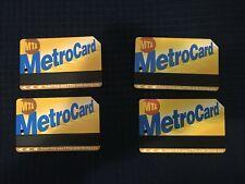 4x MTA MetroCard: New York City Subway (Card Only) Transit Card