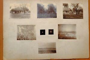 1898 ORIGINAL PHOTOS TOTAL SOLAR ECLIPSE INDIA THANESAR FAIR 700,000 PILGRIMS