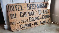 More details for rare vintage advertising sign, antique shop sign, french restaurant sign