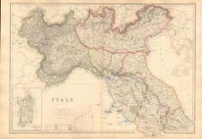 1860  ANTIQUE MAP - ITALY, NORTH, SARDINIA
