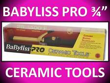 "BABYLISS PRO 3/4"" CERAMIC TOOLS 25 HEAT SETTINGS 400° SPRING CURLING IRON CT75S"