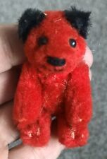 Htf rare Vintage 1980s miniature red Schuco Heike Teddy bear Germany 2.5� Euc