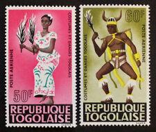 Timbre TOGO Stamp - Yvert Tellier  Aériens n°59 et 60 n** (Col9)