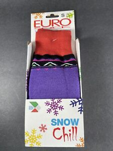Eurosock Snow Chill adult Ski Socks Sz Small Purple