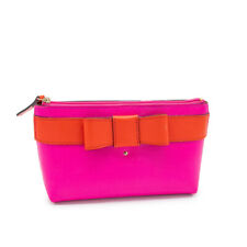 🎀New Without Tags Kate Spade Fuchsia and Red Bow Makeup Bag🎀