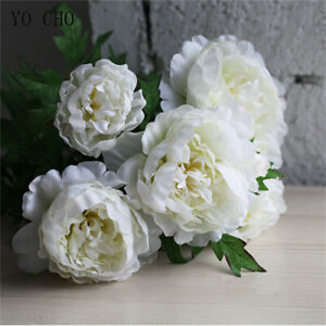 Super Large Artificial Silk Peony Flower Bunch bouquet Home Wedding Decor