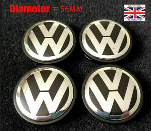 4X Outer Alloy 56mm Centre Wheel Caps 1J0601171 For V W Golf Polo Bora Beetle