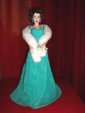 Elizabeth Taylor-Porcelain Doll-Franklin Comme neuf-Poupée de porcelaine
