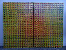 Pixelation Diptych Abstract Painting On Canvas 123cm x 92cm