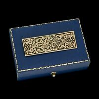 Antique Vintage Nouveau 925 Sterling Silver Rococo Scroll Motif Bar Pin Brooch