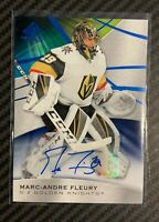 19-20 SP GAME USED BLUE AUTO  - MARC ANDRE FLEURY
