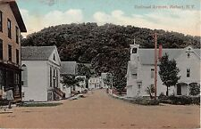 1911 Store Homes Railroad Ave. Hobart NY post card Delaware County