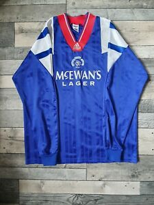 Glasgow Rangers Adidas 1992-94 XL L/S 44-46